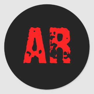AR ROUND STICKER