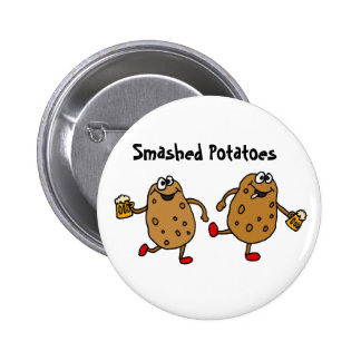 AR- Smashed Potatoes Cartoon 6 Cm Round Badge