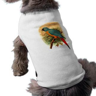 Ara Erythrura Doggie Ribbed Tank Top Sleeveless Dog Shirt