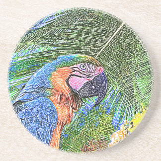 Ara parrot coaster
