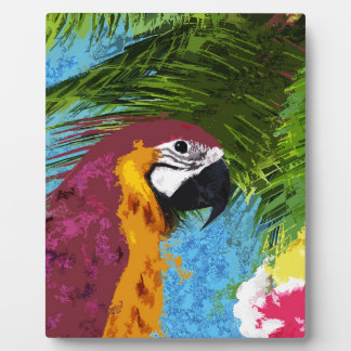 Ara parrot plaque