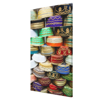 Arab Caps At Market Canvas Print