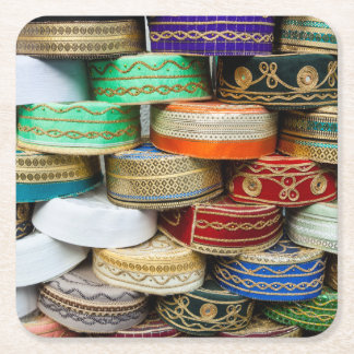 Arab Caps At Market Square Paper Coaster