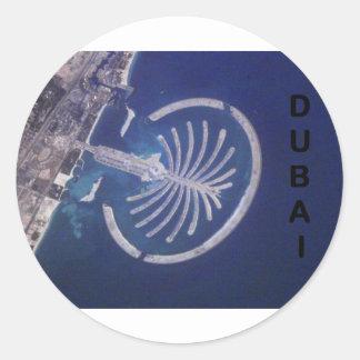 Arab Emirates Dubai Palm-Island Resort (St.K) Round Sticker