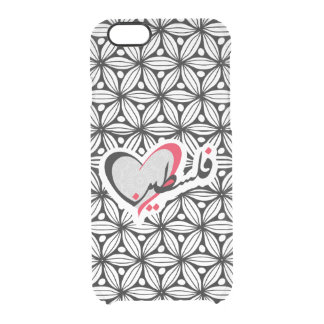Arab handwriting Palestine فلسطين Clear iPhone 6/6S Case