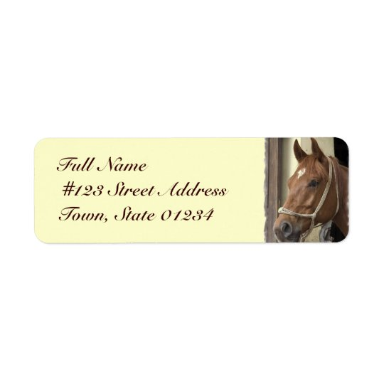 Arab Horse Return Address Label