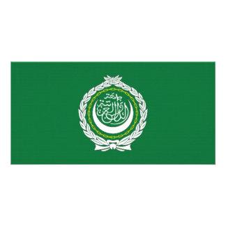 Arab League Flag Customized Photo Card