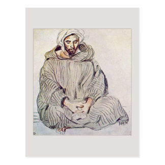 Arab Man Sitting in Tangier by Eugene Delacroix Postcard