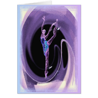 Arabesque Back With Swirl Greeting Card