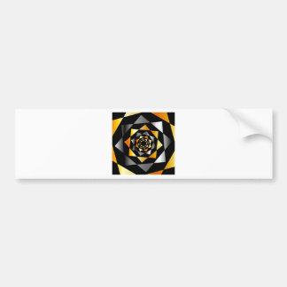 Arabesque background in metallic colors bumper sticker