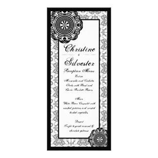 Arabesque Black Lace menu and program Rack Card