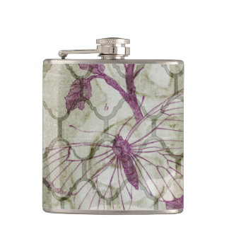 Arabesque Butterflies IV Hip Flask