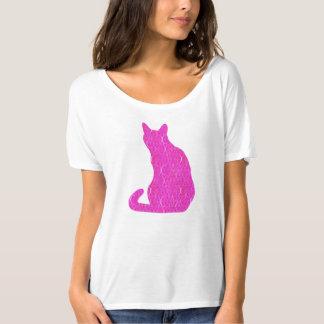 Arabesque Cat - fuschia, hot pink T-Shirt