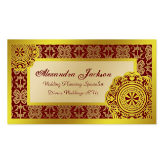 Arabesque Gold Lace, Business Card Templates