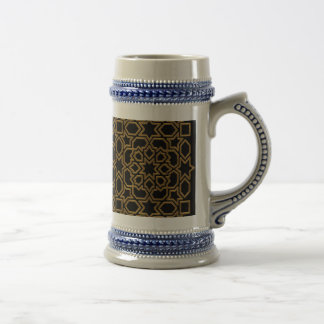 Arabesque Moroccan with elegant gold frame Mugs