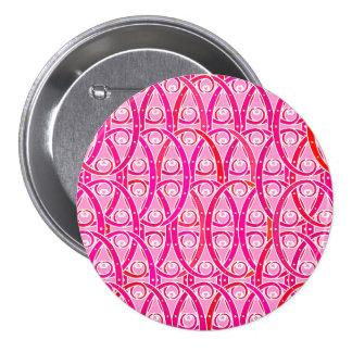 Arabesque pattern - strawberry pink pins