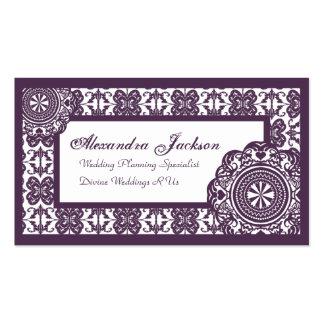 Arabesque Purple Lace, Business Card Template