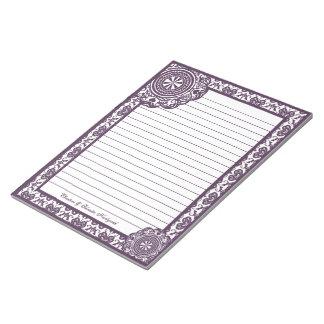 Arabesque Purple Lace, notepad