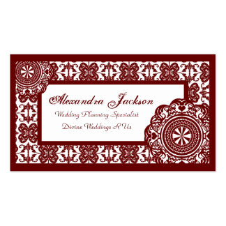 Arabesque Red Lace, Business Cards