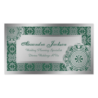 Arabesque Silver Lace, Business Cards