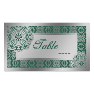 Arabesque Silver Lace, mini table setting pack Business Card Template
