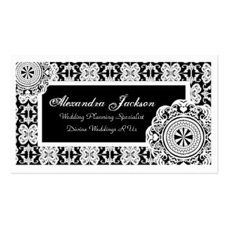 Arabesque White Lace, Business Card