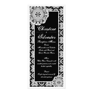 Arabesque White Lace menu and program Custom Rack Cards