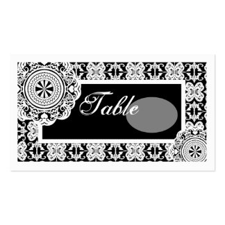 Arabesque White Lace,  mini table setting pack Business Card