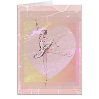 Arabesque With Heart Greeting Card