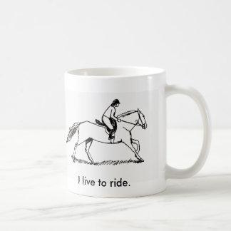 arabgallop, I live to ride. Coffee Mug