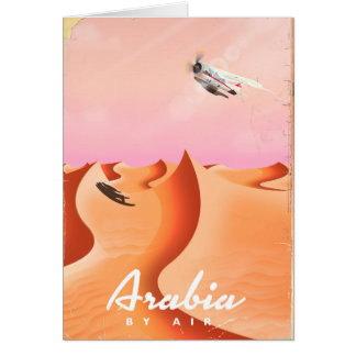 Arabia By Air travel poster Card
