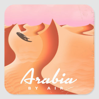 Arabia By Air travel poster Square Sticker