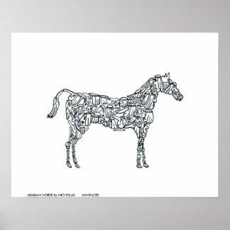 ARABIAN HORSE by NICHOLAS       MINIFACES Poster