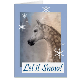 Arabian Horse Christmas or Holiday Card