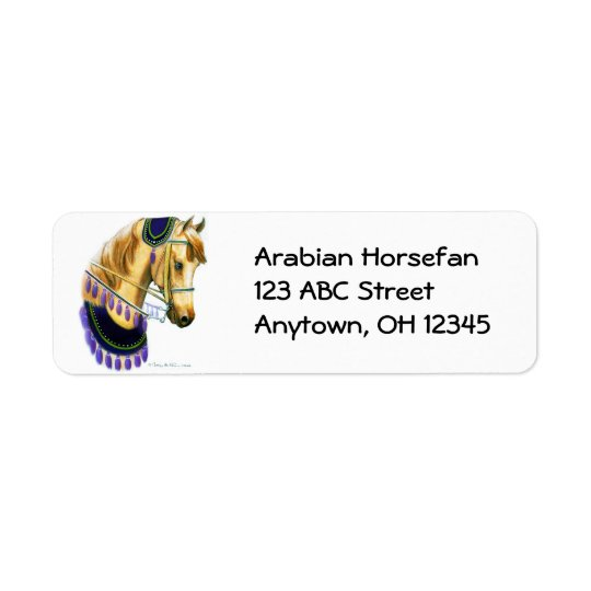 Arabian Horse in Costume Label