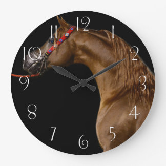 Arabian horse large clock