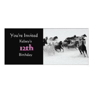 """Arabian Horse Party Invitation 4"""" X 9.25"""" Invitation Card"""