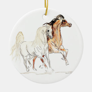 Arabian Horse Round Ornament