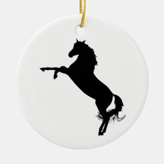 Arabian Horse Silhouette Ceramic Ornament