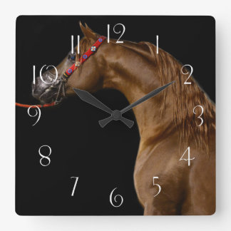 Arabian horse square wall clock