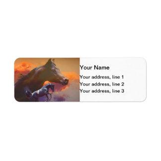Arabian Horses Address Label