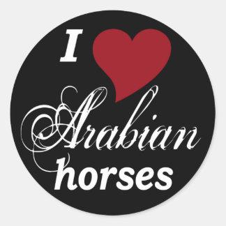 Arabian horses round sticker