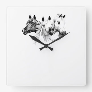 Arabian Horses Wall Clocks