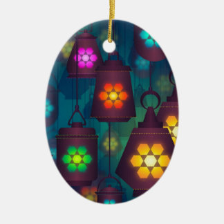 Arabian Lanterns Middle Eastern design Ceramic Ornament