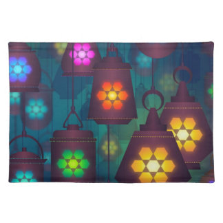 Arabian Lanterns Middle Eastern design Placemat