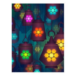 Arabian Lanterns Middle Eastern design Postcard