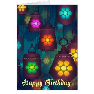 Arabian Lanterns Moroccan birthday Card
