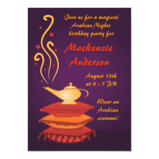 Arabian Magic Lamp Party Invitations