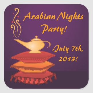 Arabian Magic Lamp Party Stickers