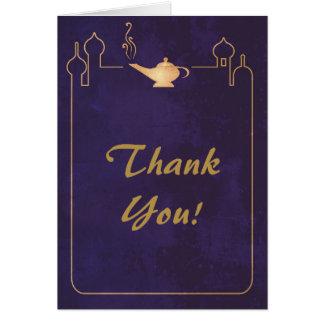 Arabian Magic Lamp Wedding Thank You Cards